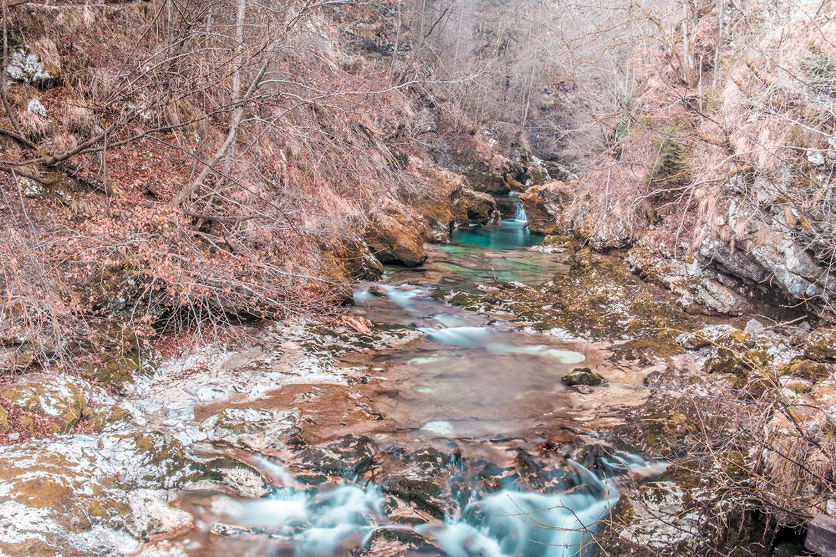 Gorges de Vintgar en hiver