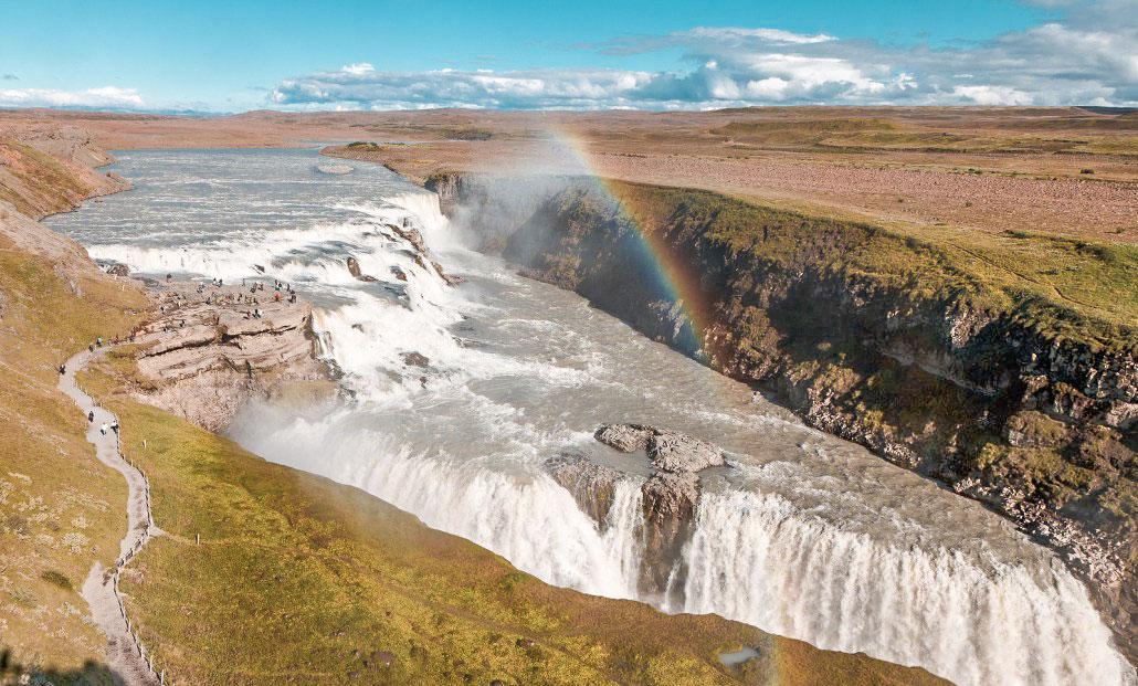 Islande en stop Gullfoss
