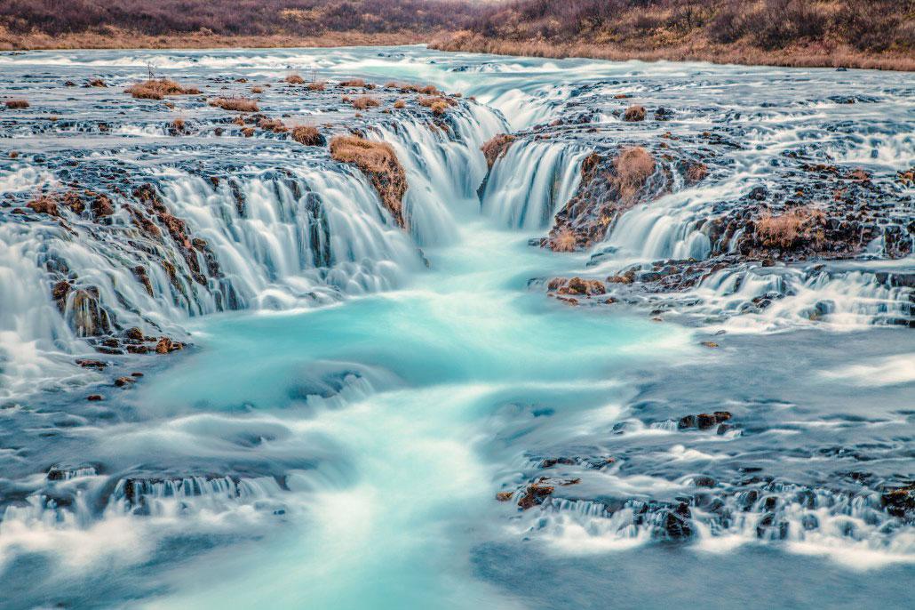 Islande en stop Bruarfoss