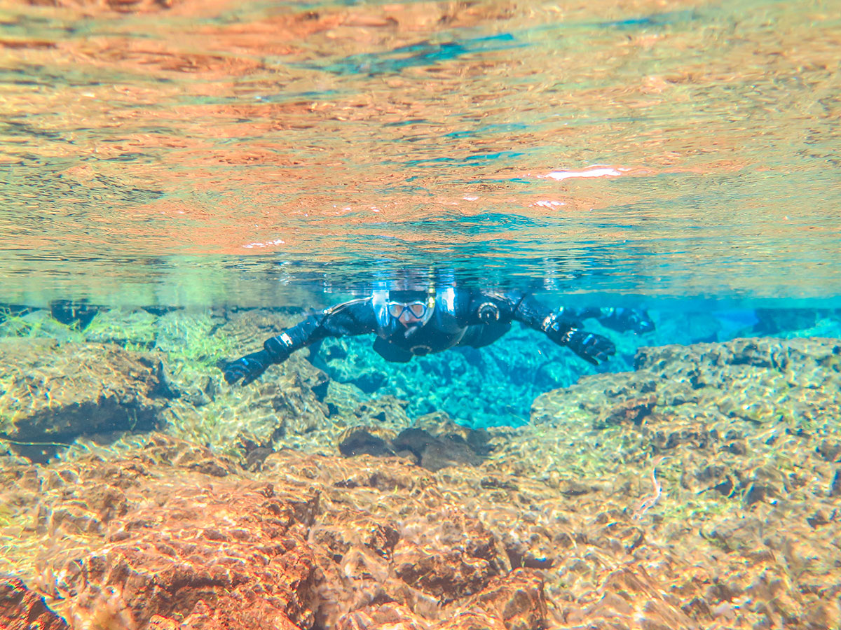 Snorkelling faille Silfra Islande