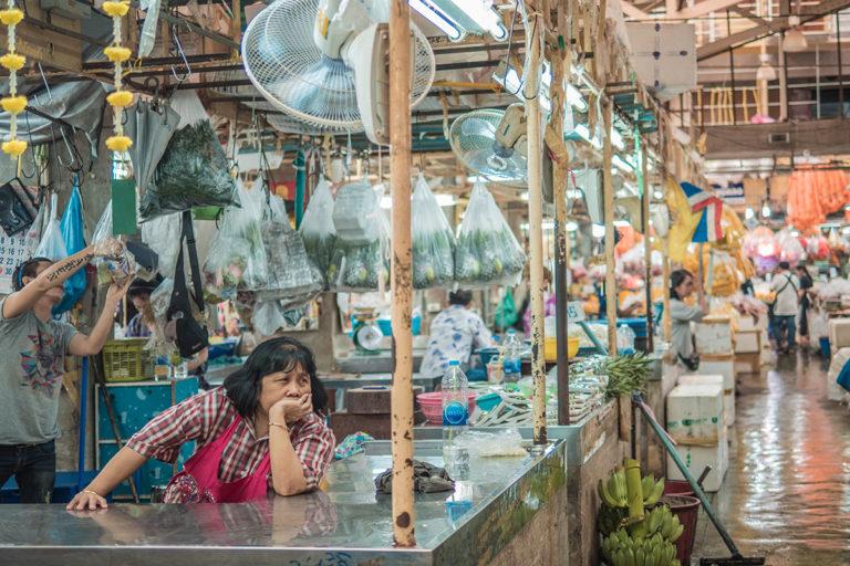 Bagnkok marché aux fleurs