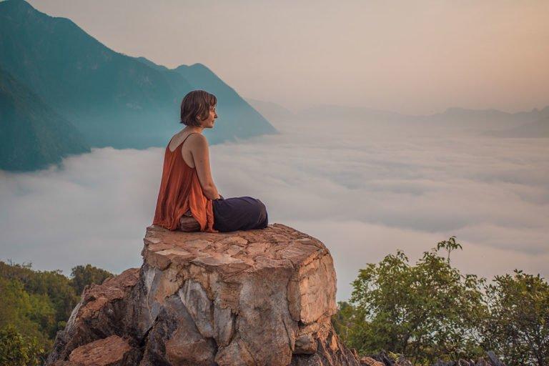 Lever de soleil Nong Khiaw Laos