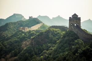 lever de soleil grande muraille de Chine