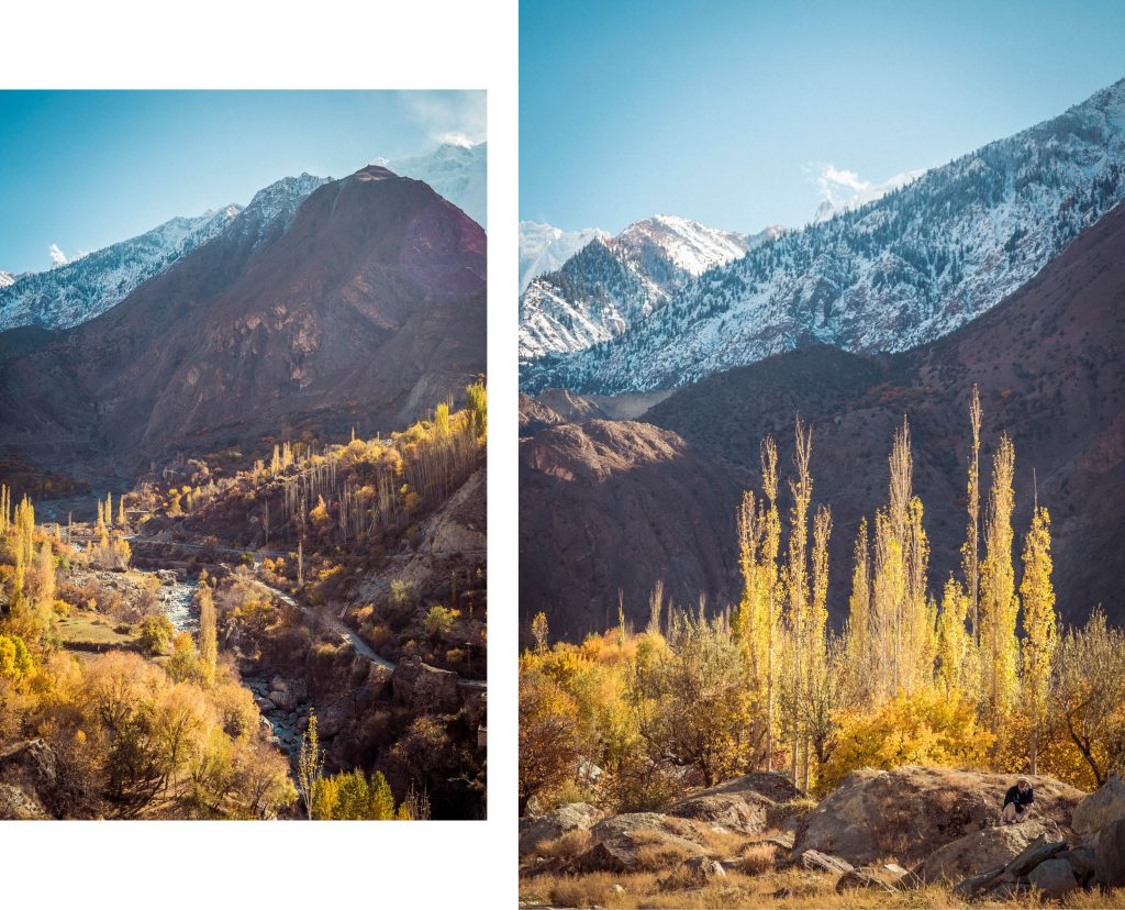 Vallée Hunza automne Nord Pakistan